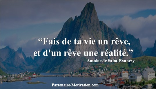 accomplissement de vos reves objectifs motivation